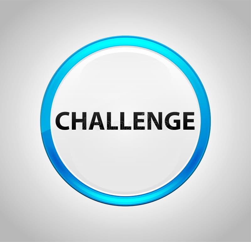 Uitdaging om Blauwe Drukknop royalty-vrije illustratie