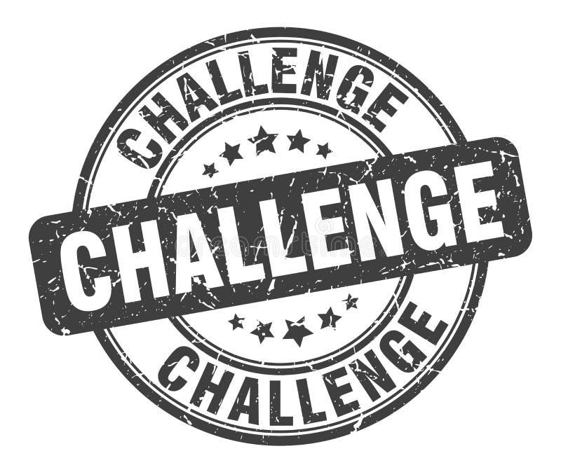 Uitdagingszegel stock illustratie