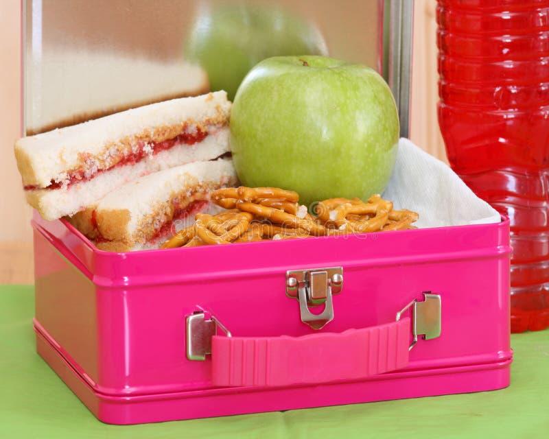 Uitdrukkelijk Lunchbox - roze stock afbeeldingen