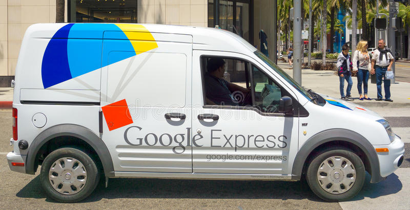 Uitdrukkelijke de Leveringsbestelwagen van Google royalty-vrije stock foto's