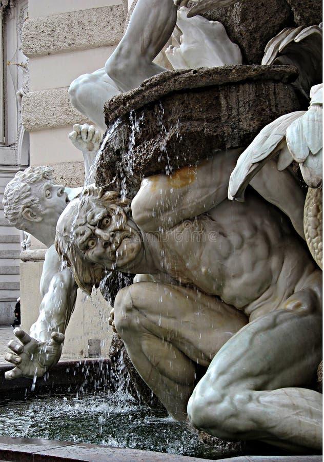 Uitdrukking op marmeren standbeeld in Wenen royalty-vrije stock afbeeldingen