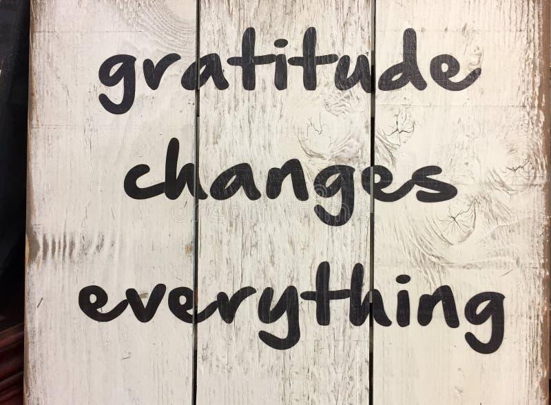 Uiteinde over dankbaarheid stock foto