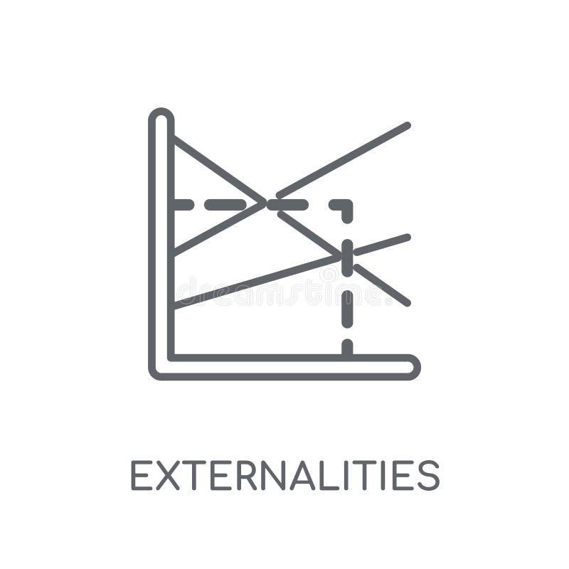 Uiterlijkheden lineair pictogram Het moderne embleem van overzichtsuiterlijkheden bedriegt vector illustratie
