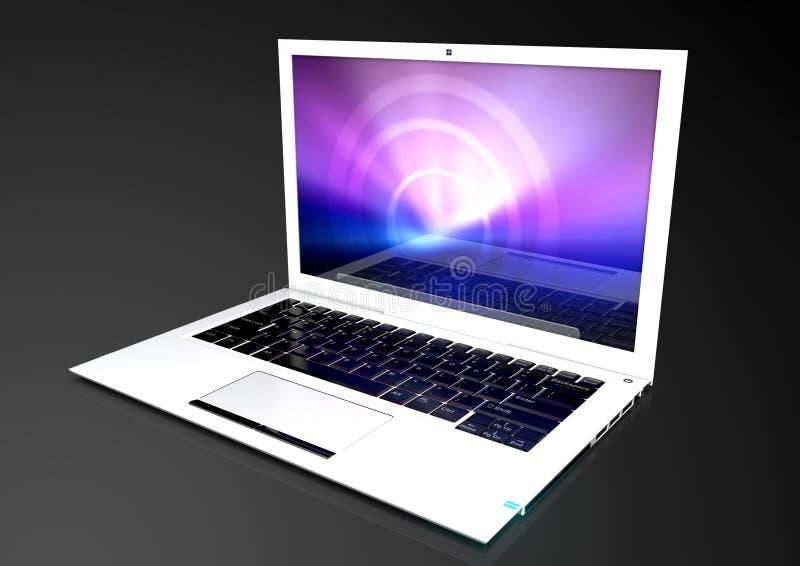Uiterst dunne, moderne laptop royalty-vrije illustratie