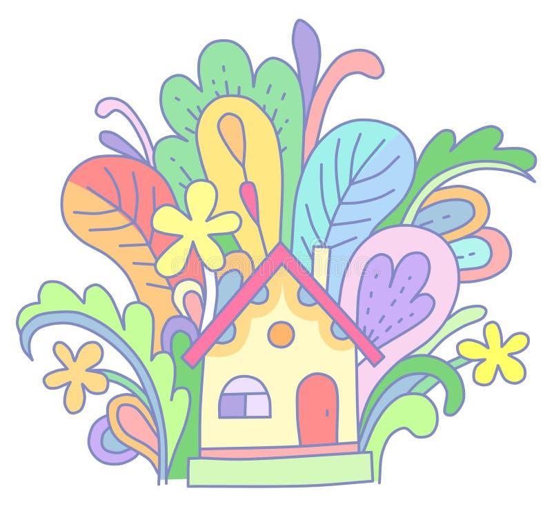 Uiterst klein huis vector illustratie