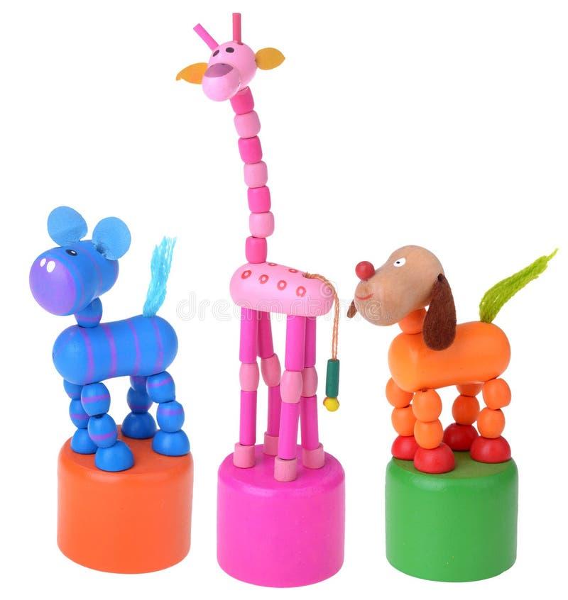 Uiterst klein kleurrijk houten speelgoed royalty-vrije stock afbeeldingen