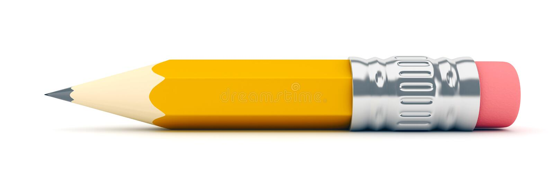 Uiterst klein scherp geel potlood vector illustratie