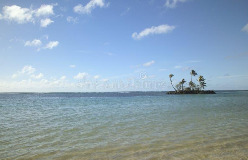 Uiterst klein woestijneiland in Hawaï royalty-vrije stock foto's