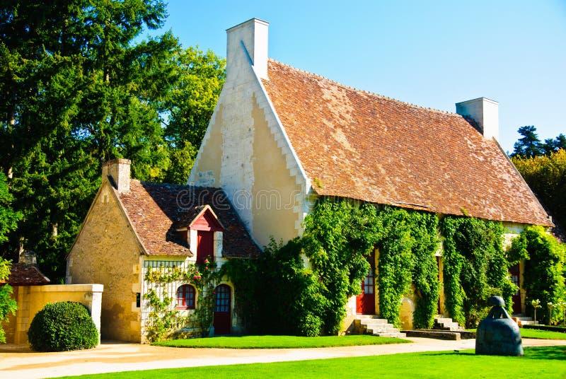 Uiterst kleine landelijke huizen van zeven dwergen in Frankrijk royalty-vrije stock fotografie