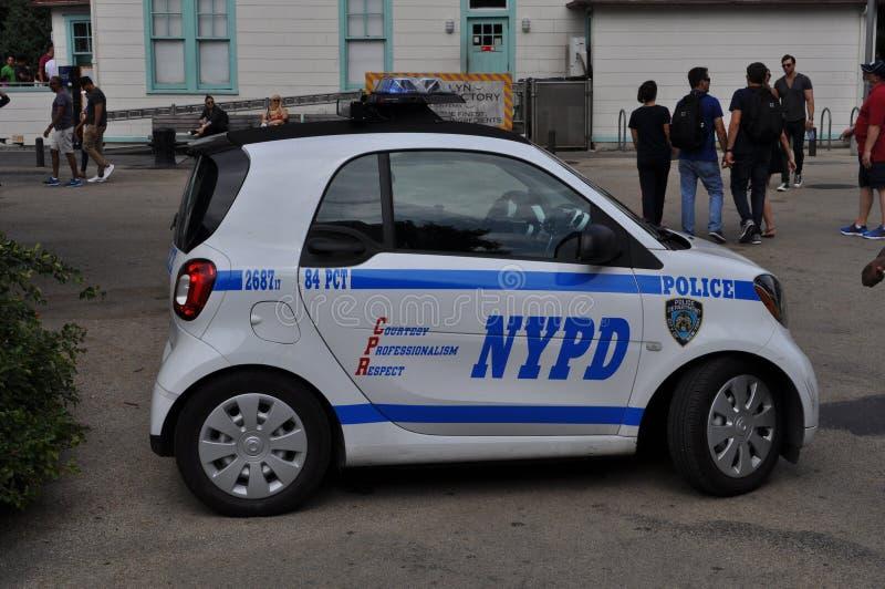 Uiterst kleine NYPD-Politiewagen royalty-vrije stock afbeelding