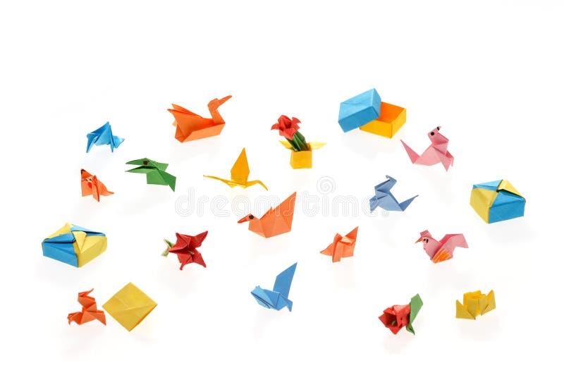 Uiterst kleine origami royalty-vrije stock afbeeldingen