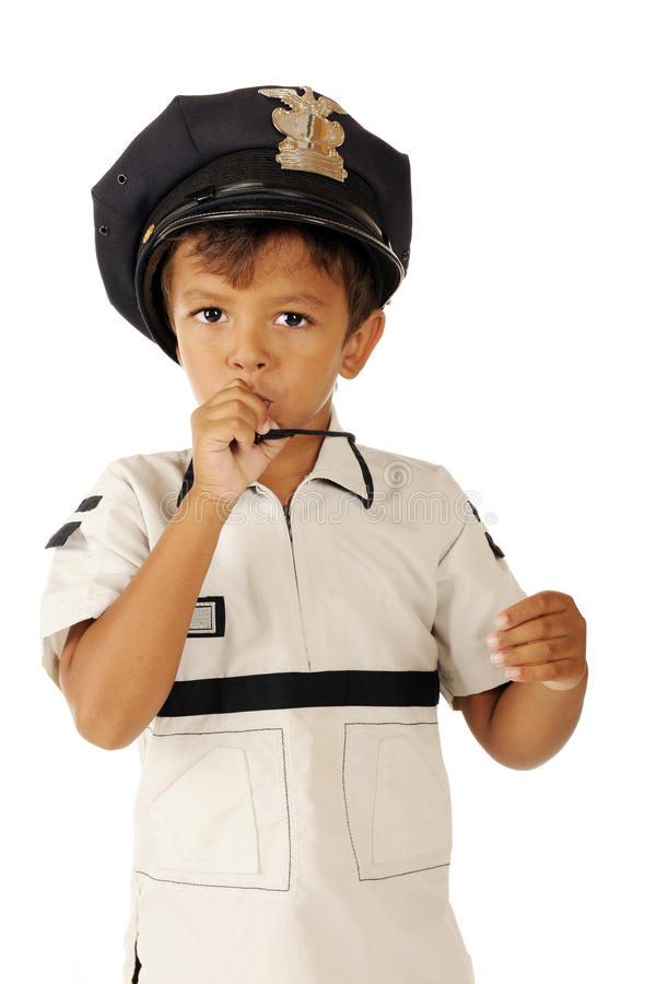Uiterst kleine Politie op Plicht royalty-vrije stock afbeelding