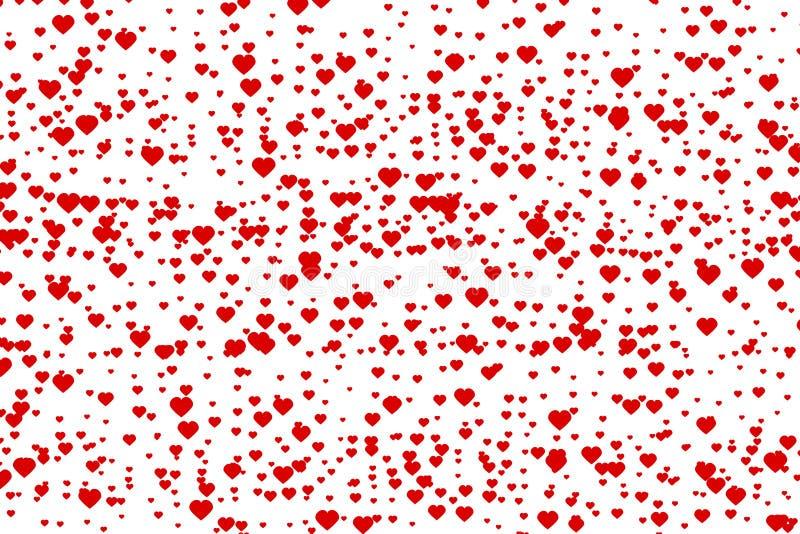 Uiterst kleine rode harten royalty-vrije illustratie