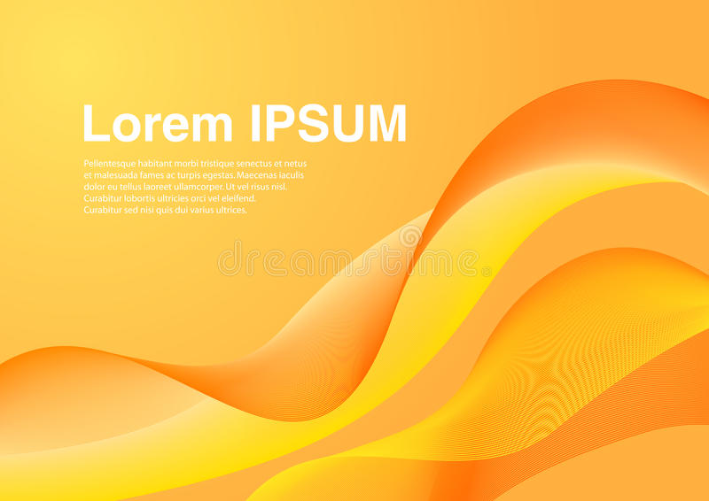 Uiterst modieuze oranje achtergrond stock illustratie