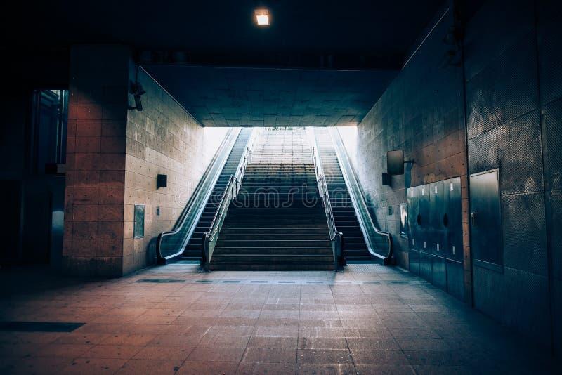 Uitgang van ondergrondse metro stock afbeeldingen