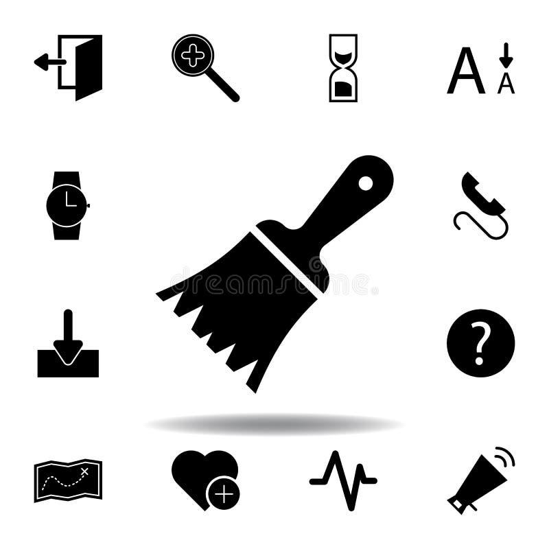 Uitgangsdeur, logout, uit pictogram De tekens en de symbolen kunnen voor Web, embleem, mobiele toepassing, UI, UX worden gebruikt stock illustratie