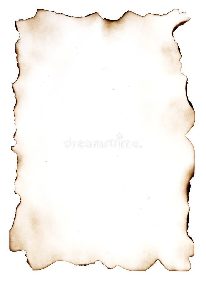 Uitgebrand document 7 royalty-vrije illustratie