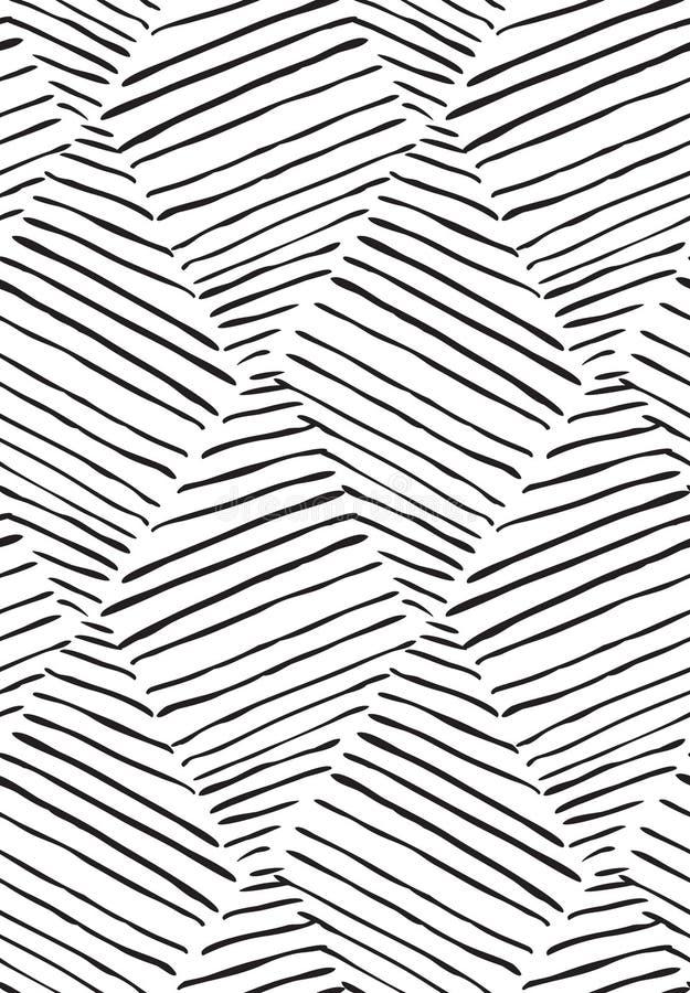 Uitgebroede diagonaal diamanten op wit stock illustratie