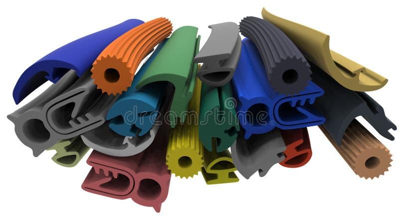 Uitgedreven rubberprofiel (het verzegelen) stock illustratie
