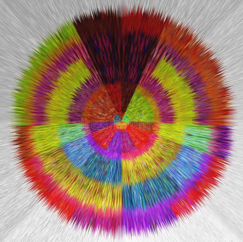 Uitgedreven uitbarsting van rood, zwarte, oranje blauw, groen, geel, zwart vector illustratie