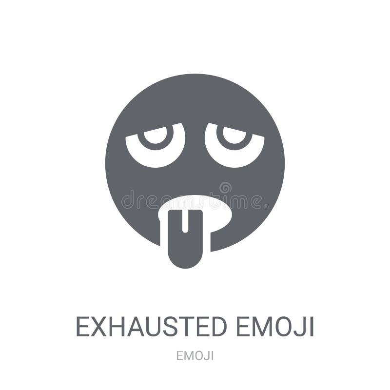 Uitgeput emojipictogram  royalty-vrije illustratie