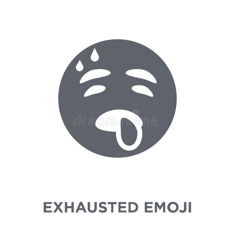 Uitgeput emojipictogram van Emoji-inzameling stock illustratie