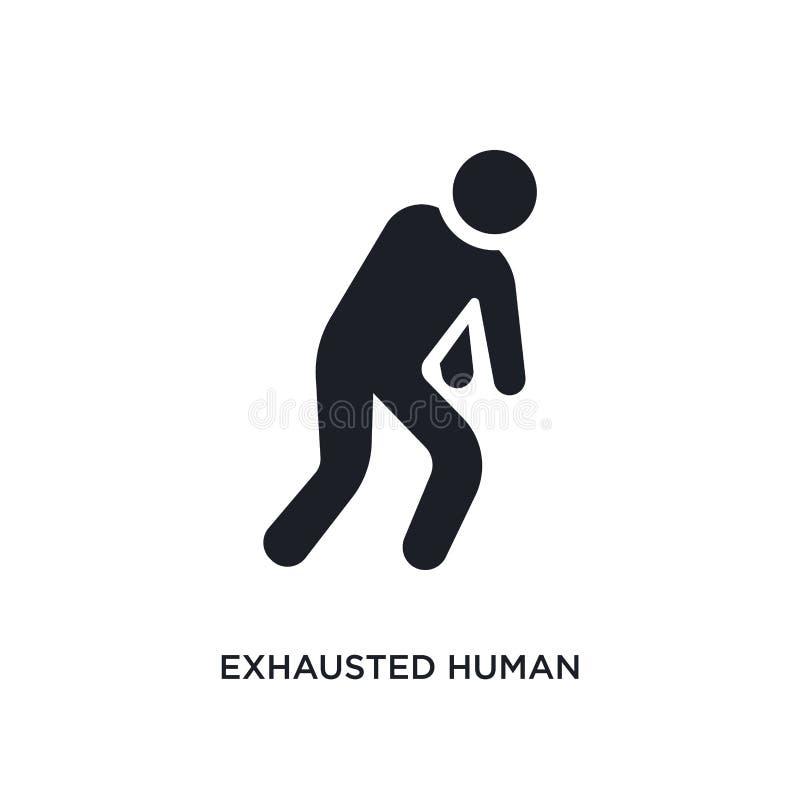 uitgeput mens geïsoleerd pictogram eenvoudige elementenillustratie van de pictogrammen van het gevoelsconcept het uitgeputte mens vector illustratie