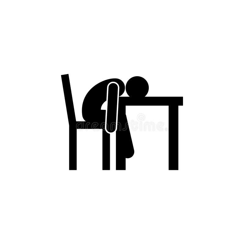 uitgeput, mens, slaappictogram Het element van de mens zit pictogram voor mobiel concept en Web apps Gedetailleerd uitgeput, mens vector illustratie