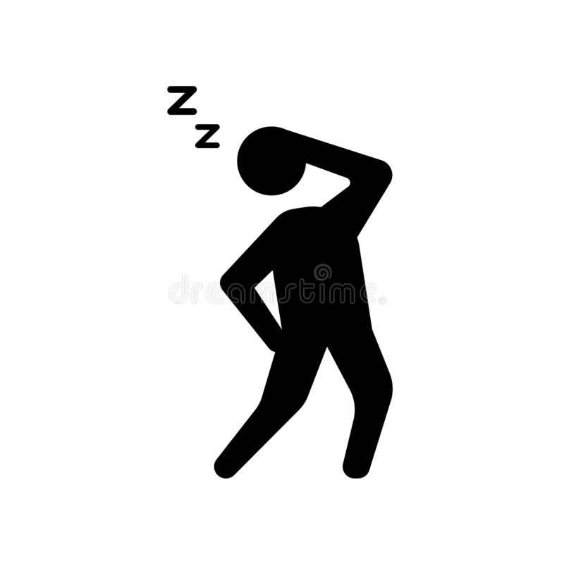 uitgeput menselijk pictogram In uitgeput menselijk embleemconcept op whi royalty-vrije illustratie