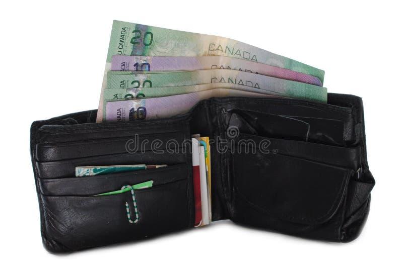 Uitgeputte Canadese Portefeuille stock afbeelding