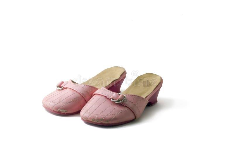 Uitgeputte schoenen stock fotografie