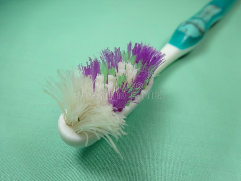 Uitgeputte Tandenborstel stock afbeelding