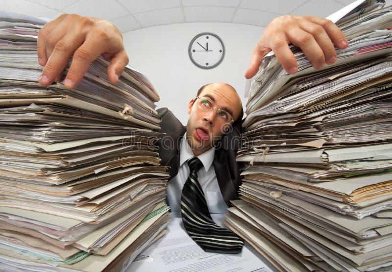 Uitgeputte zakenman stock afbeeldingen