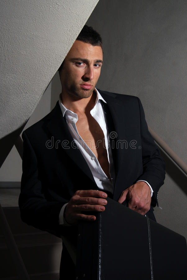 Uitgeputte zakenman stock fotografie