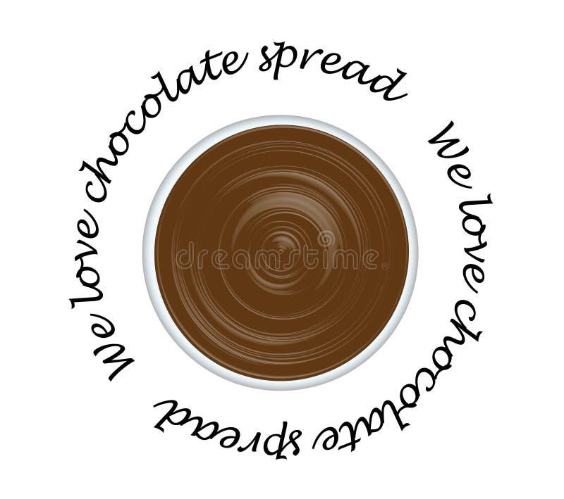 Uitgespreide chocolade royalty-vrije stock afbeeldingen