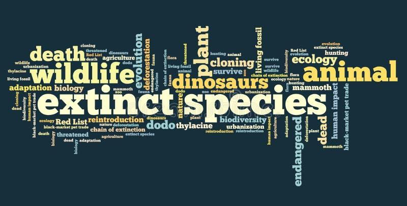 Uitgestorven species stock illustratie
