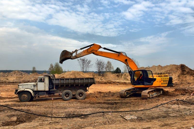 Uitgravingskuil stock foto
