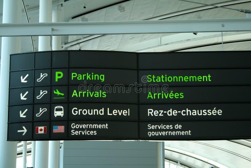 Uithangbord in Luchthaven royalty-vrije stock afbeeldingen