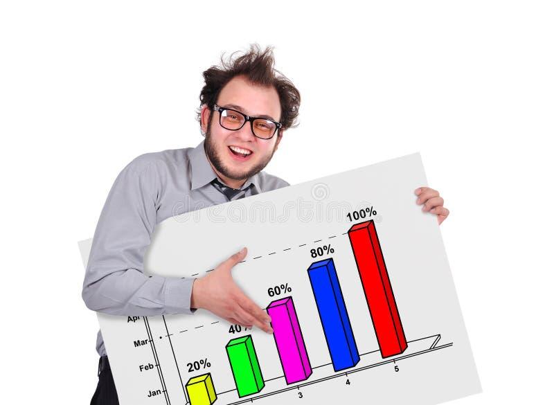 Uithangbord met grafiek stock illustratie
