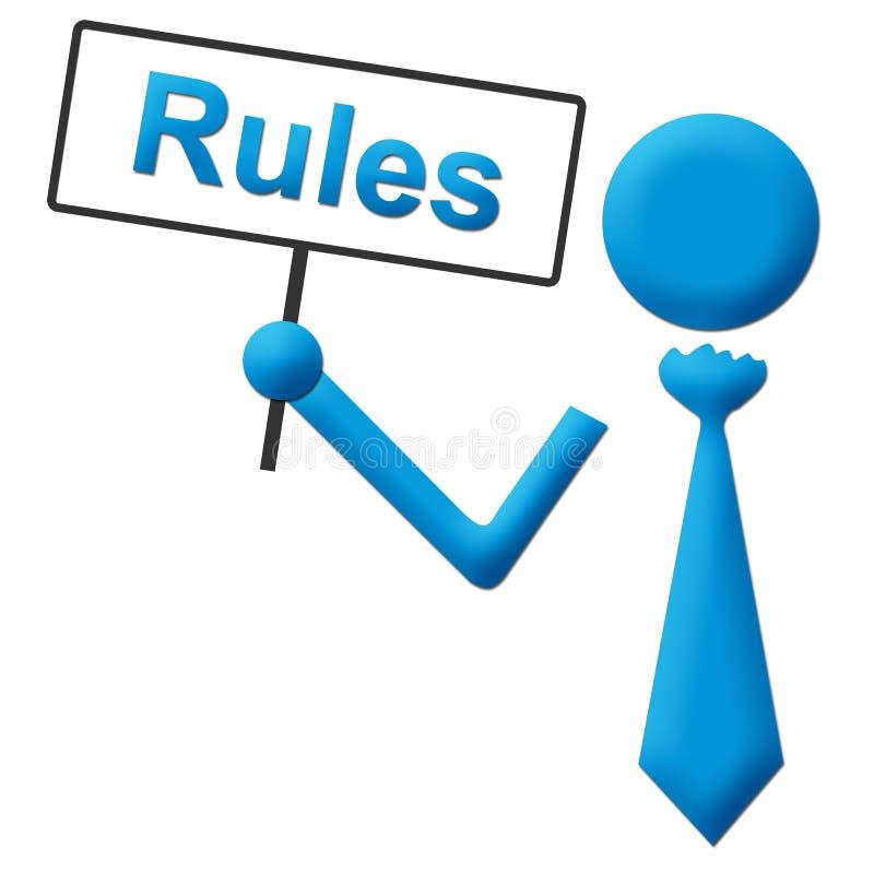 Uithangbord van de regels het Menselijke Holding royalty-vrije illustratie
