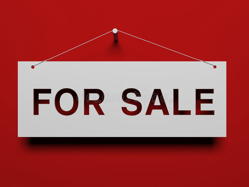 Uithangbord voor verkoop royalty-vrije illustratie