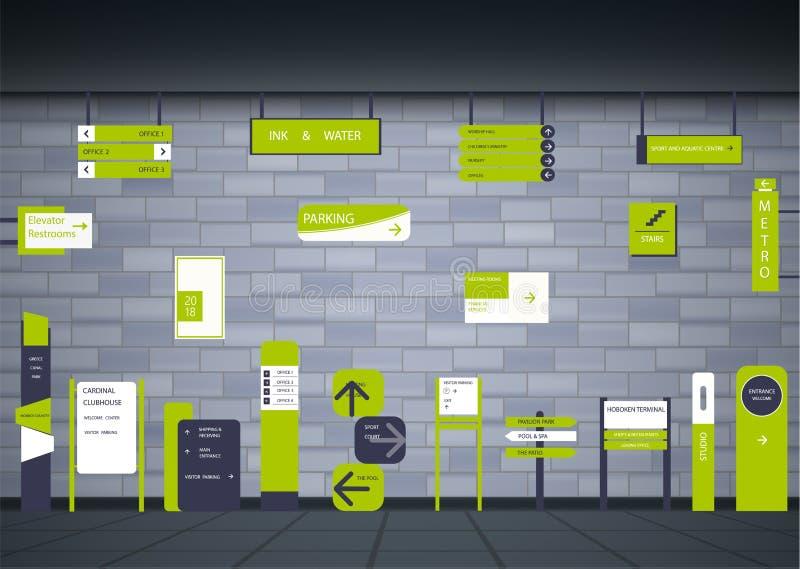 Uithangborden voor zaken vector illustratie