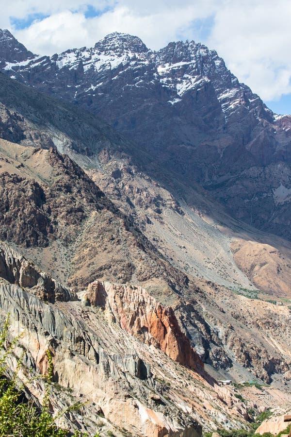 Uitlopers van Pamirs in Tadzjikistan stock afbeeldingen