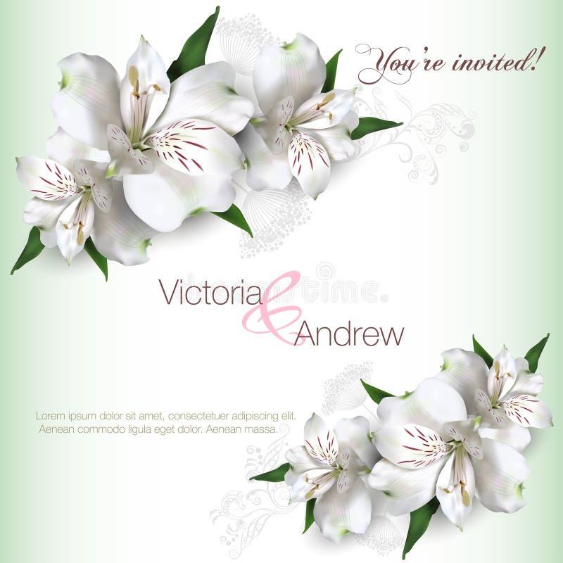 Uitnodigingskaart Lilly vector illustratie