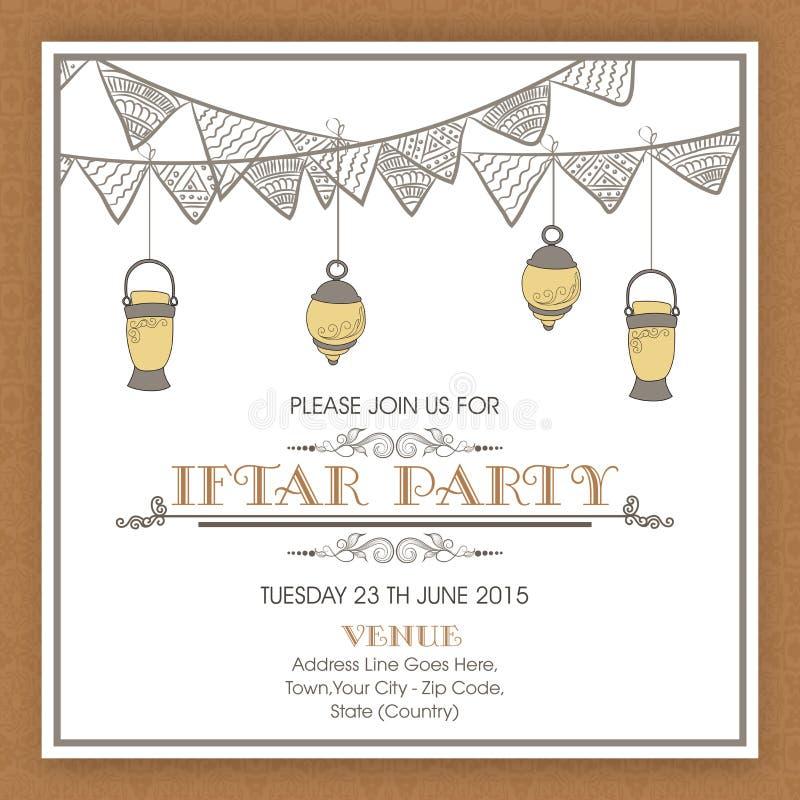Uitnodigingskaart voor heilige maand, Ramadan Kareem Iftar Party celeb