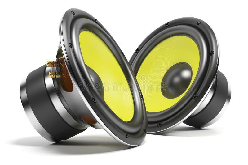 Uitrusting correcte sprekers stock illustratie