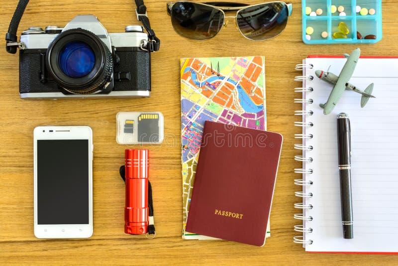 Uitrusting van reiziger royalty-vrije stock fotografie