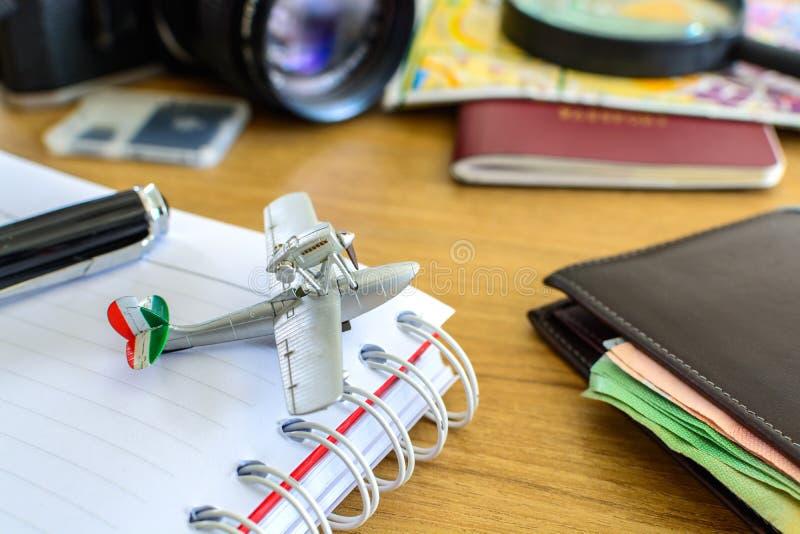 Uitrusting van reiziger stock afbeelding