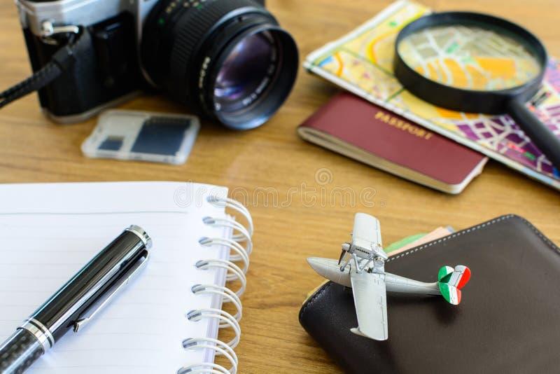Uitrusting van reiziger stock foto