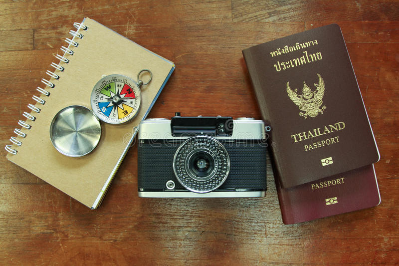 Uitrusting van reiziger royalty-vrije stock foto